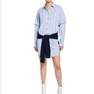 Derek lam 10 Crosby stripe sweater tie shirtdress